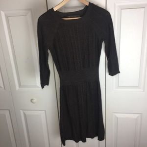 The Limited Brown Chunky Cable Knit Sweater Dress
